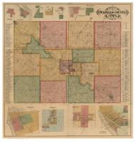 Wapello County Iowa 1893 - Old Map Reprint