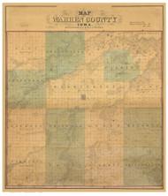 Warren County Iowa 1859 - Old Map Reprint