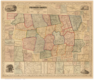 Franklin County Massachusetts 1858 - Old Map Reprint