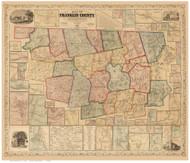 Franklin County Massachusetts 1858 - Old Map Reprint