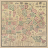 Middlesex County Massachusetts 1856 - Old Map Reprint