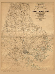 Baltimore County Maryland 1863 - Old Map Reprint