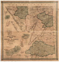 Cecil County Maryland 1858 - Old Map Reprint