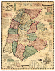 Frederick County Maryland 1858 - Old Map Reprint