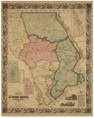 Harford County Maryland 1858 - Old Map Reprint