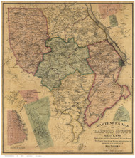 Harford County Maryland 1878 - Old Map Reprint