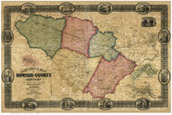Howard County Maryland 1860 - Old Map Reprint
