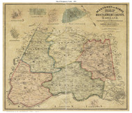 Montgomery County Maryland 1865 - Old Map Reprint
