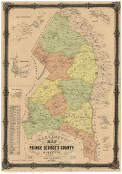 Prince George's County Maryland 1861 - Old Map Reprint