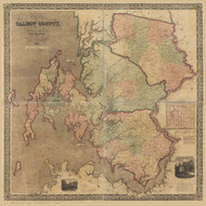 Talbot County Maryland 1858 - Old Map Reprint
