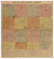 Cass County Michigan 1897 - Old Map Reprint