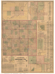 Gratiot County Michigan 1876 - Old Map Reprint