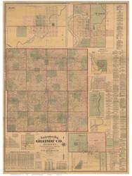 Gratiot County Michigan 1876 - Old Map Reprint