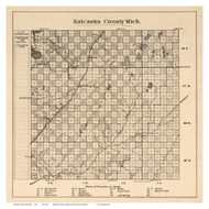 Kalcaska County Michigan 1878 - Old Map Reprint