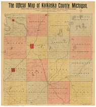 Kalkaska County Michigan 1898 - Old Map Reprint