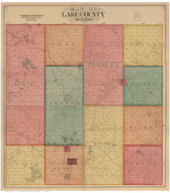 Lake County Michigan 1900 - Old Map Reprint