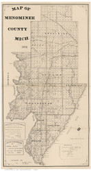 Menominee County Michigan 1898 - Old Map Reprint