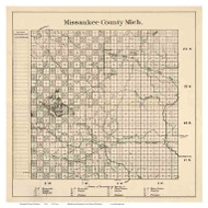 Missaukee County Michigan 1898 - Old Map Reprint