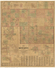 Montcalm County Michigan 1875 - Old Map Reprint