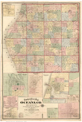 Oceana County Michigan 1876 - Old Map Reprint