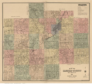 Saginaw County Michigan 1890 - Old Map Reprint