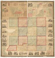 St. Joseph County Michigan 1858 - Old Map Reprint