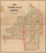 Coahoma County Mississippi 1872 - Old Map Reprint