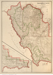 Beaverhead County Montana 1912 - Old Map Reprint