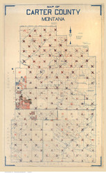 Carter County Montana 1920 - Old Map Reprint