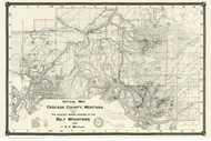 Cascade County Montana 1890 - Old Map Reprint