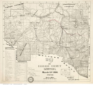 Cascade County Montana 1904 - Old Map Reprint