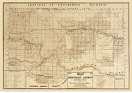 Chouteau County Montana 1906 - Old Map Reprint