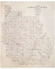 Dawson County Montana 1924 - Old Map Reprint