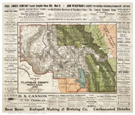 Flathead County Montana 1903 - Old Map Reprint