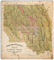 Flathead County Montana 1908 - Old Map Reprint