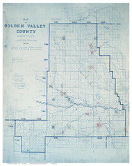 Golden Valley County Montana 1920 - Old Map Reprint