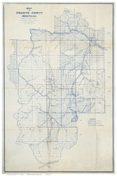 Granite County Montana 1915 - Old Map Reprint