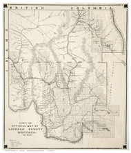 Lincoln County Montana 1910 - Old Map Reprint