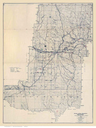 Phillips County Montana 1917 (1921) - Old Map Reprint