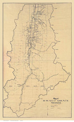 Ravalli County Montana 1927 - Old Map Reprint