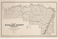 Richland County Montana 1915 - Old Map Reprint