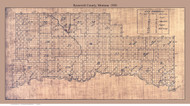 Roosevelt County Montana ca1920 - Old Map Reprint