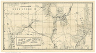 Silver Bow County Montana 1890 - Old Map Reprint