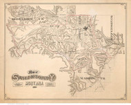 Silver Bow County Montana 1891 - Old Map Reprint