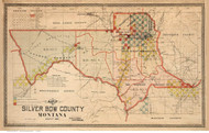 Silver Bow County Montana 1897 - Old Map Reprint
