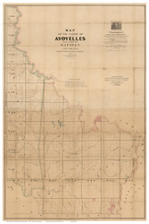 Avoyelles Parish Louisiana 1860 - Old Map Reprint