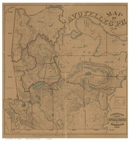 Avoyelles Parish Louisiana 1879 - Old Map Reprint
