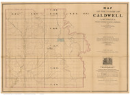 Caldwell Parish Louisiana 1860 - Old Map Reprint