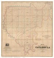 Catahoula Parish Louisiana 1860 - Old Map Reprint