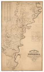 Concordia Parish Louisiana 1841 - Old Map Reprint